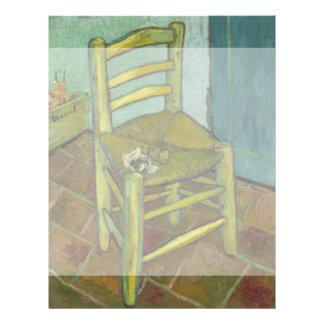 La silla de Van Gogh de Vincent van Gogh Folleto 21,6 X 28 Cm