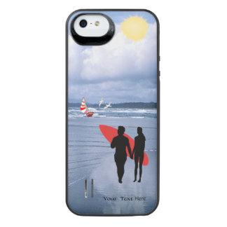 La silueta del marido y de la esposa nos dejó ir a funda power gallery™ para iPhone 5 de uncommon