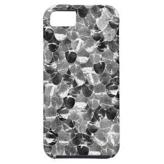 La sirena abstracta blanco y negro escala el funda para iPhone SE/5/5s