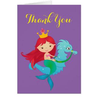 La sirena le agradece cardar tarjeta de felicitación