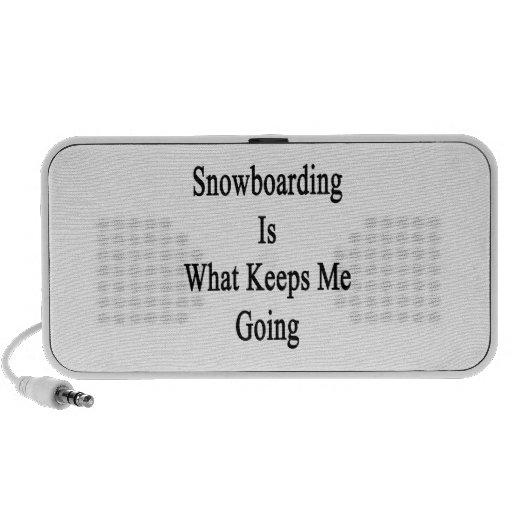 La snowboard es qué me guarda el ir mini altavoz