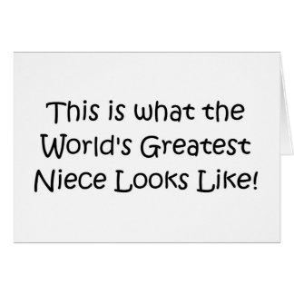 La sobrina más grande del mundo tarjeta de felicitación
