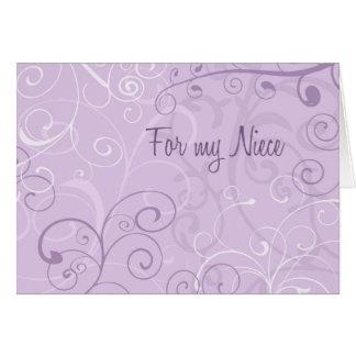 La sobrina púrpura de los remolinos le agradece tarjeta
