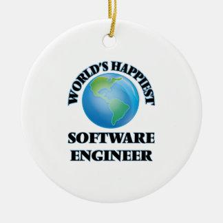 La Software Engineer más feliz del mundo Adorno Redondo De Cerámica