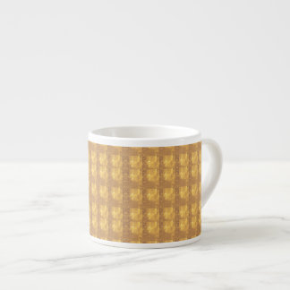 La sombra decorativa del modelo de las texturas taza de espresso