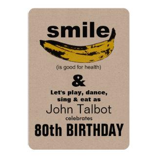 La sonrisa es buena - 80.a invitación de la fiesta