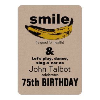 La sonrisa es buena para la 75.a invitación del