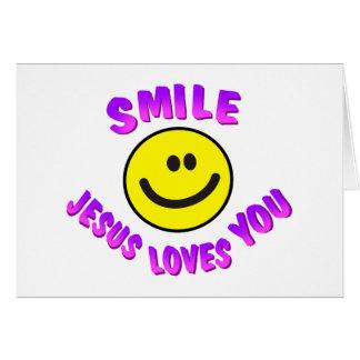 La sonrisa, Jesús le ama Tarjeta De Felicitación