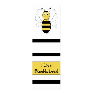 La sonrisa manosea la señal de la abeja tarjetas de visita