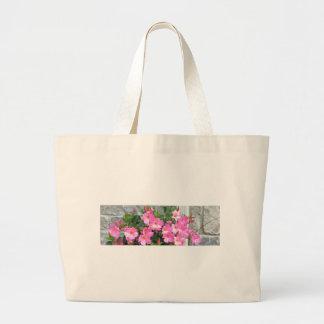 La sonrisa rosada PURA FLORECE los regalos Bolsa De Mano