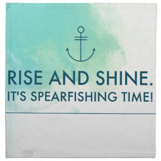 La subida y lo brilla es tiempo de Spearfishing Servilleta De Tela