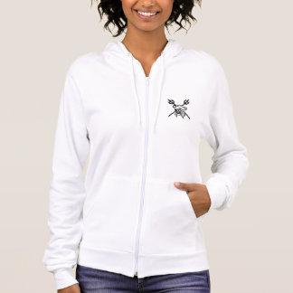 La sudadera con capucha blanca para mujer coralina