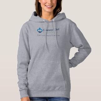 La sudadera con capucha de las mujeres - gris