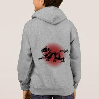 La sudadera con capucha del dragón del niño