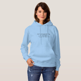 La sudadera con capucha w/Blue de las mujeres de