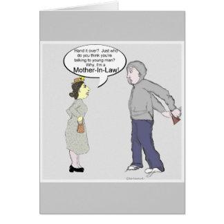 La suegra consigue a pensamiento bien en usted la  tarjeta de felicitación