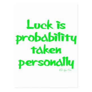 La suerte es… postal