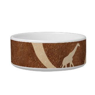 La superficie del modelo de la piel de la jirafa comedero para mascota