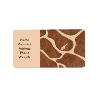 La superficie del modelo de la piel de la jirafa etiquetas de dirección