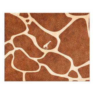 La superficie del modelo de la piel de la jirafa folleto 11,4 x 14,2 cm