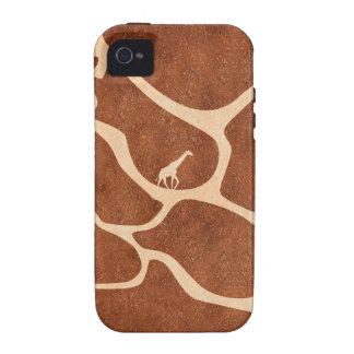 La superficie del modelo de la piel de la jirafa vibe iPhone 4 funda