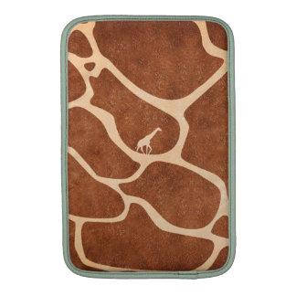 La superficie del modelo de la piel de la jirafa fundas MacBook