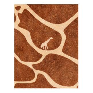 La superficie del modelo de la piel de la jirafa postal