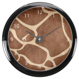 La superficie del modelo de la piel de la jirafa relojes pecera