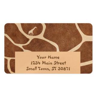 La superficie del modelo de la piel de la jirafa tarjetas de visita