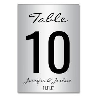 La tabla con clase de la bodas de plata numera la