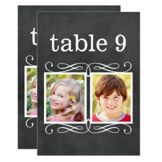 La tabla de la pizarra numera a la novia del | + invitación 12,7 x 17,8 cm