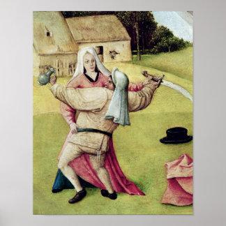 La tabla de los siete pecados mortales póster