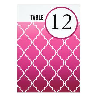 La tabla de Quatrefoil Ombre numera el ciruelo del Invitación 12,7 X 17,8 Cm