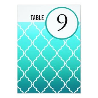 La tabla de Quatrefoil Ombre numera la piscina de Invitación 12,7 X 17,8 Cm