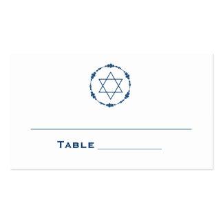 La tabla de tarjetas del asiento de Mitzvah de la Tarjetas De Visita