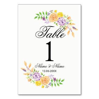 La tabla numera casar el melocotón púrpura