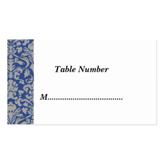 La tabla numera el damasco azul tarjetas de visita