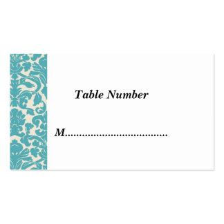 La tabla numera el damasco del trullo tarjeta personal