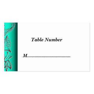 La tabla numera verde tarjeta personal
