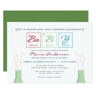 La tabla periódica de la fiesta de bienvenida al invitación 12,7 x 17,8 cm