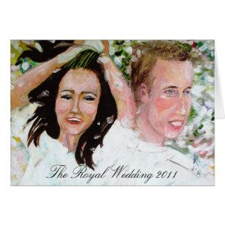 La tarjeta 2011 de felicitación real del boda