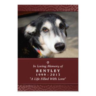 """La tarjeta conmemorativa 3,5"""" del perro rojo de x"""