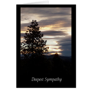 La tarjeta de condolencia más profunda de la puest