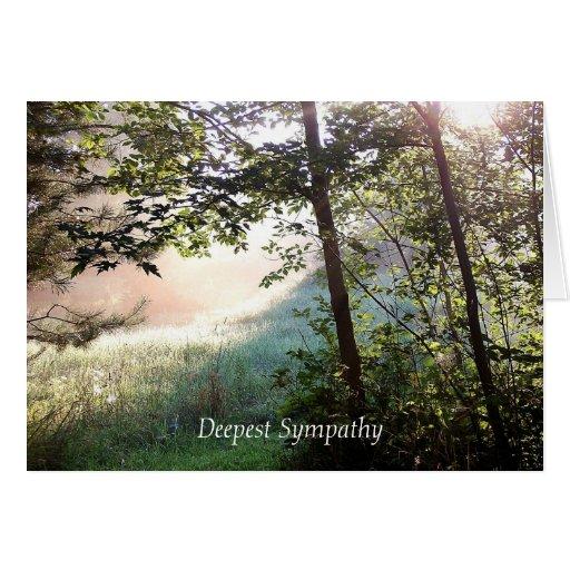 La tarjeta de condolencia más profunda del amanece