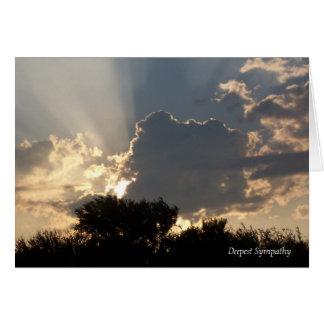 La tarjeta de condolencia más profunda del cielo