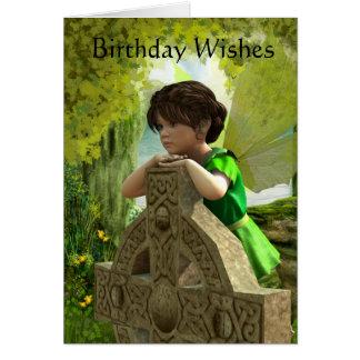 La tarjeta de cumpleaños de hadas céltica