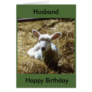 La tarjeta de cumpleaños de las ovejas del cordero