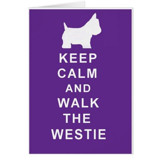 La tarjeta de cumpleaños de Westie guarda estilo