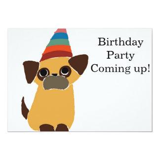 La tarjeta de cumpleaños del barro amasado invita invitación 12,7 x 17,8 cm