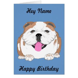 La tarjeta de cumpleaños del dogo añade el frente